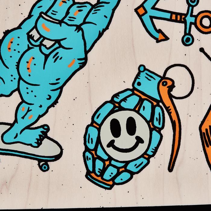 水滴形迷你重心長板-藍色