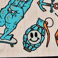 LONGBOARDYSK8 A CRUISERY Skateboardy, longboardy, waveboardy - LONGBOARD DROP MINI CORE MODRÝ OXELO - Vybavení na longboard a cruiser