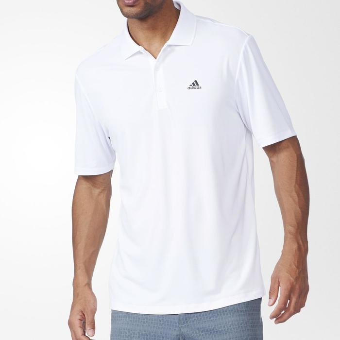 Polo de golf homme manches courtes Adidas temps chaud blanc - 1168082