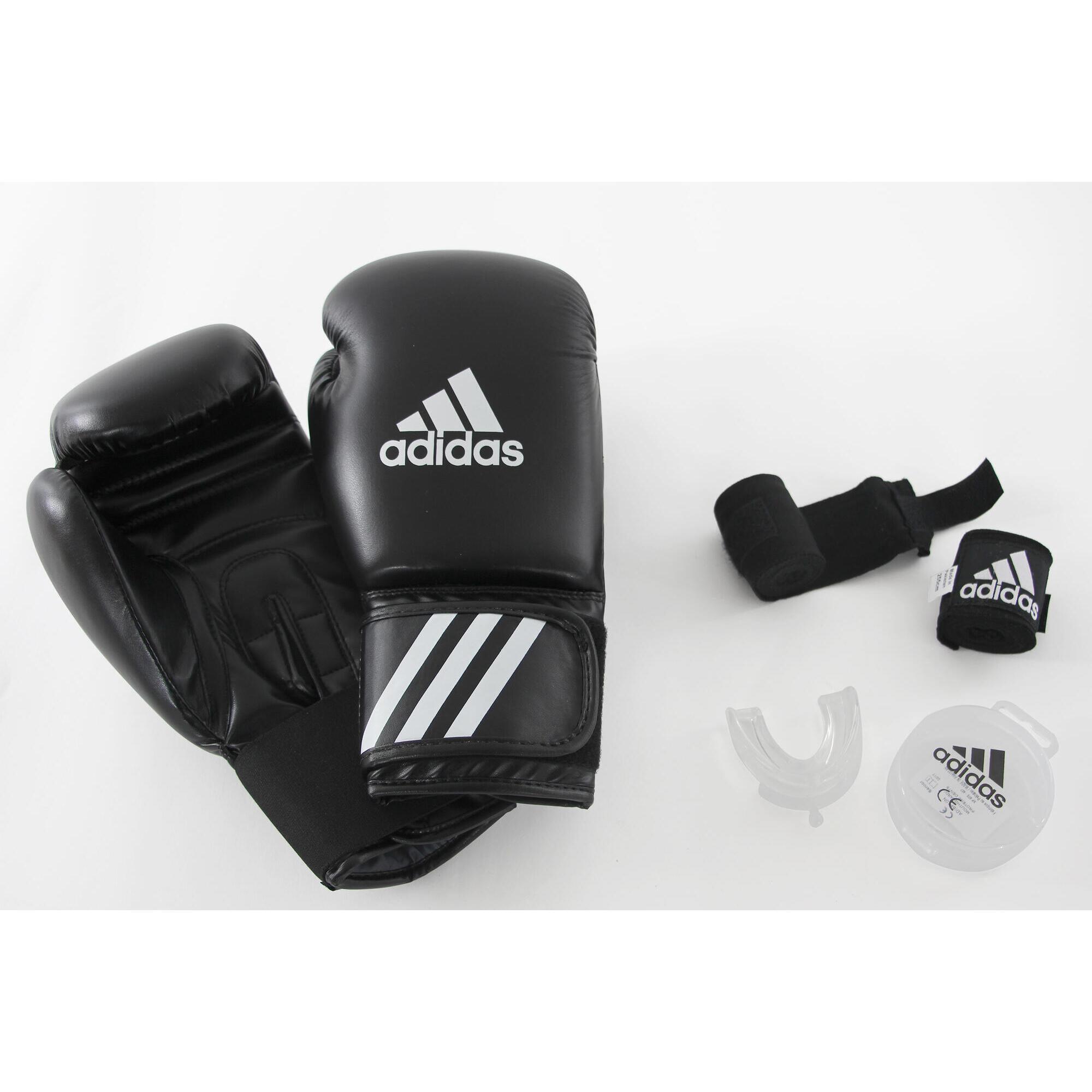 Box-Set Einsteiger Handschuhe Bandagen Mundschutz   Accessoires > Handschuhe   Adidas