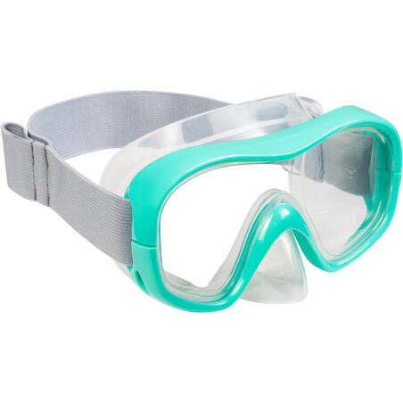 Masque de plongée SNK500 vert– Enfants
