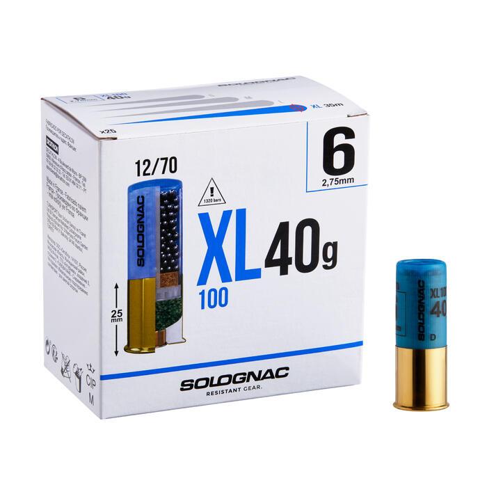 Cartucho XL100 40 g Calibre 12/70 Perdigón N.° 6 X25