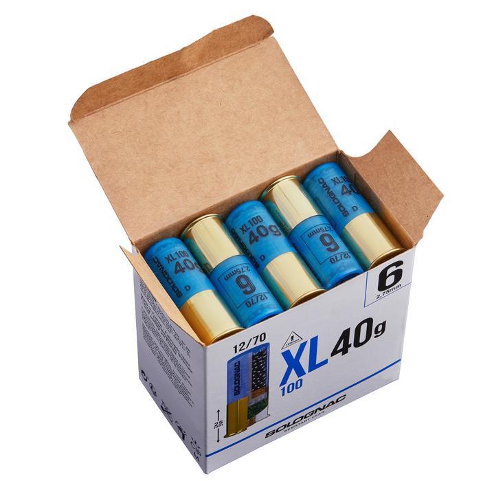 CARTUCHO XL100 40 g CALIBRE 12/70 PERDIGONES N°6 X25