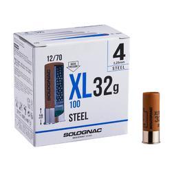 Cartucho CALIBRE 12 XL 100 32 g Acero perdigón 4 x 25
