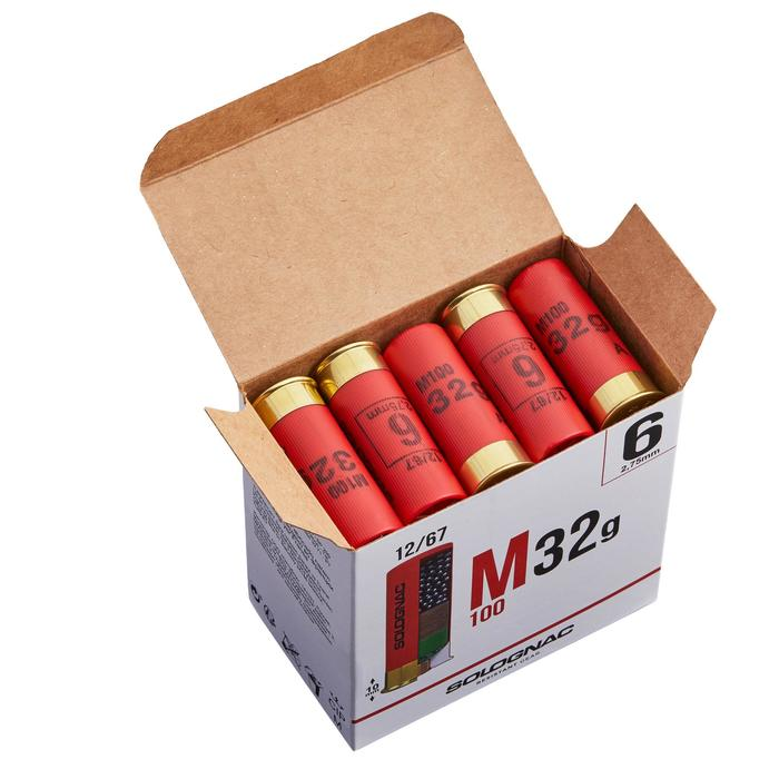 CARTOUCHE M100 32g CALIBRE 12/67 PLOMB N°6 X 25