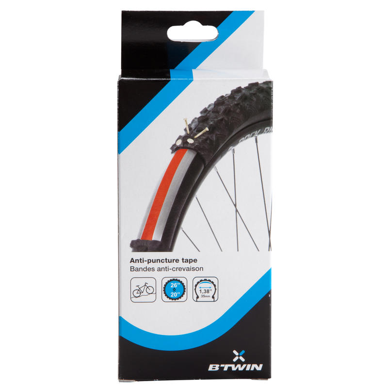Anti-Puncture Strips for 20_QUOTE_ to 26_QUOTE_ Tyre - Twin-Pack