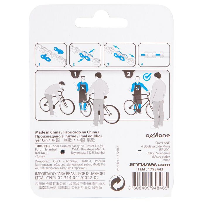 Set van 2 snelsluitingen voor fietskettingen met 3 tot 8 versnellingen