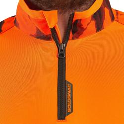Jagd-Langarmshirt Supertrack Camouflage orange