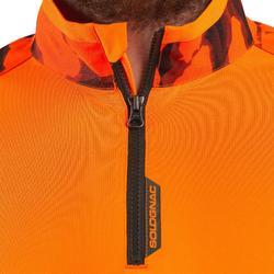 Shirt met lange mouwen voor de jacht Supertrack fluo