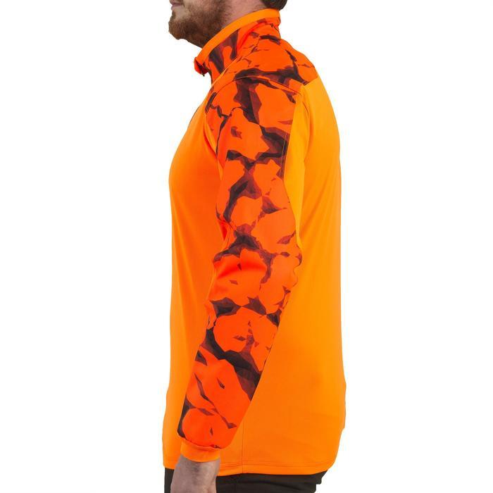 T-shirt met lange mouwen voor de jacht Supertrack fluo camouflage