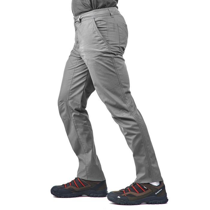 Pantalón senderismo en la naturaleza hombre NH500 gris claro