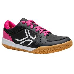 Schoenen voor badminton/squash Artengo BS730 dames grijs/roze