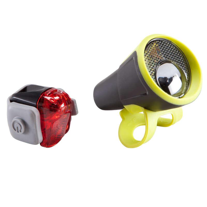 BIKE LIGHTS Cycling - 100 Bike Light Set B'TWIN - Bike Accessories