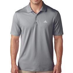 Golfpolo Adidas met korte mouwen voor heren, warm weer, grijs