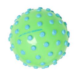小型游泳學習球,綠底藍色斑點