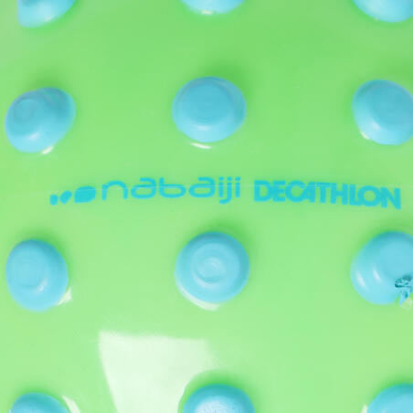 Green small learning to swim ball with blue dots