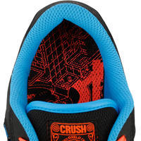 Chaussures de planche à roulettes pour enfant CRUSH 100 noire bleu
