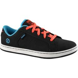 Zapatillas de skate júnior CRUSH 100 negro rojo