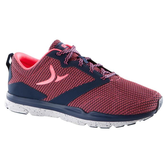 Chaussure fitness cardio femme bleu et rose Energy 500 - 1171477