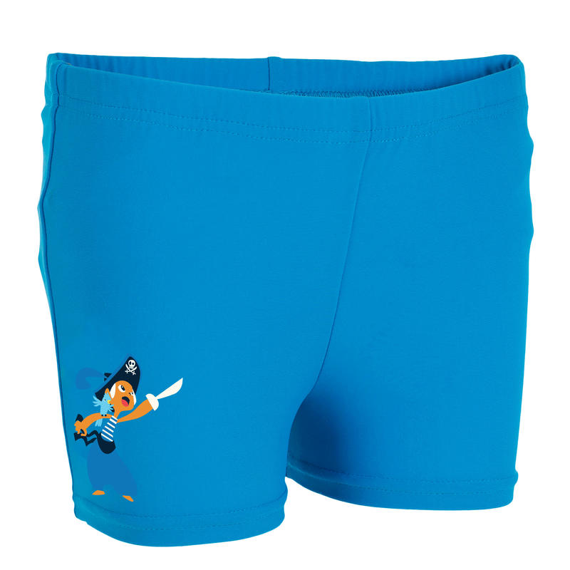 Blue baby boy's washable swim boxer shorts