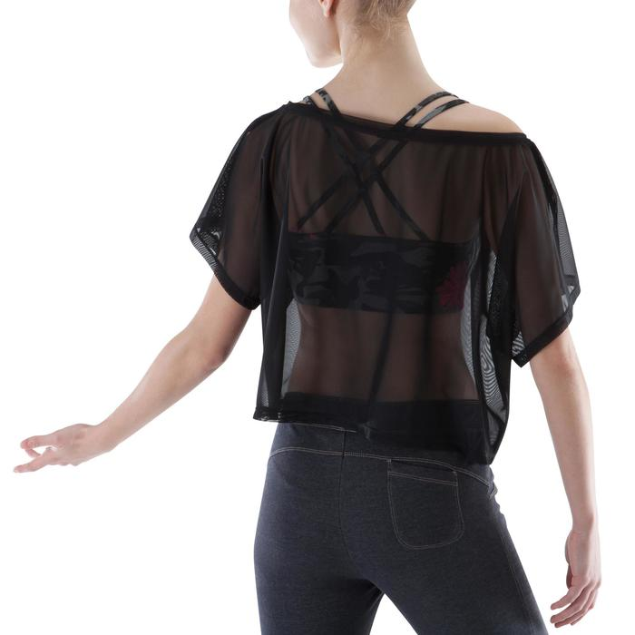 T shirt court transparent danse femme noir. - 1171664