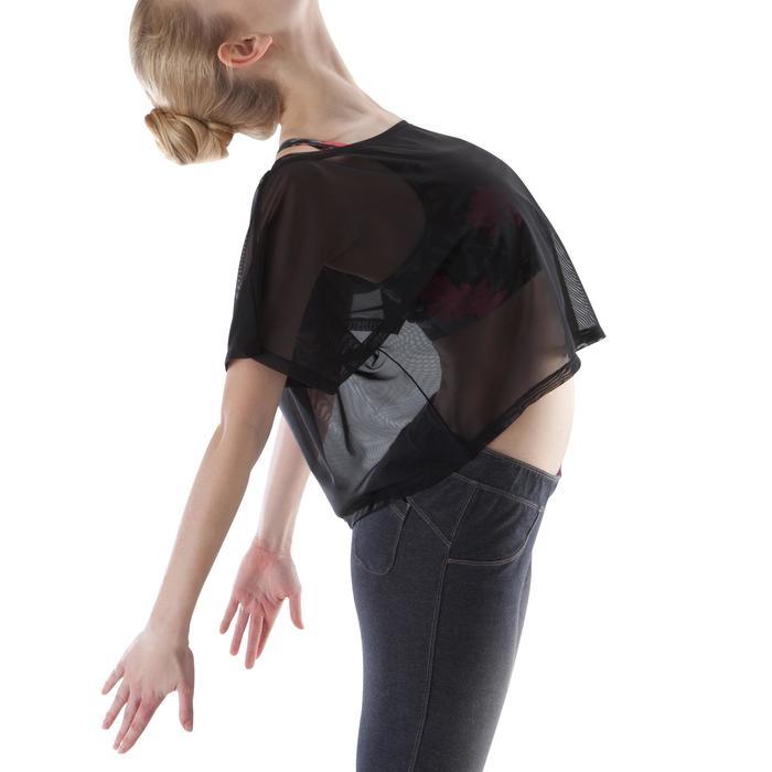 T shirt court transparent danse femme noir. - 1171670