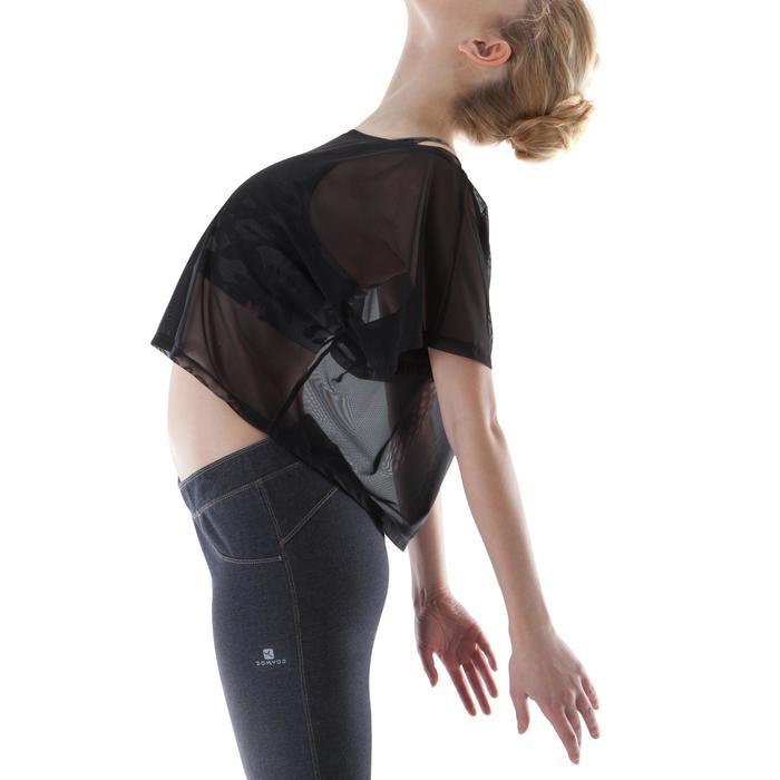 T shirt court transparent danse femme noir. - 1171693
