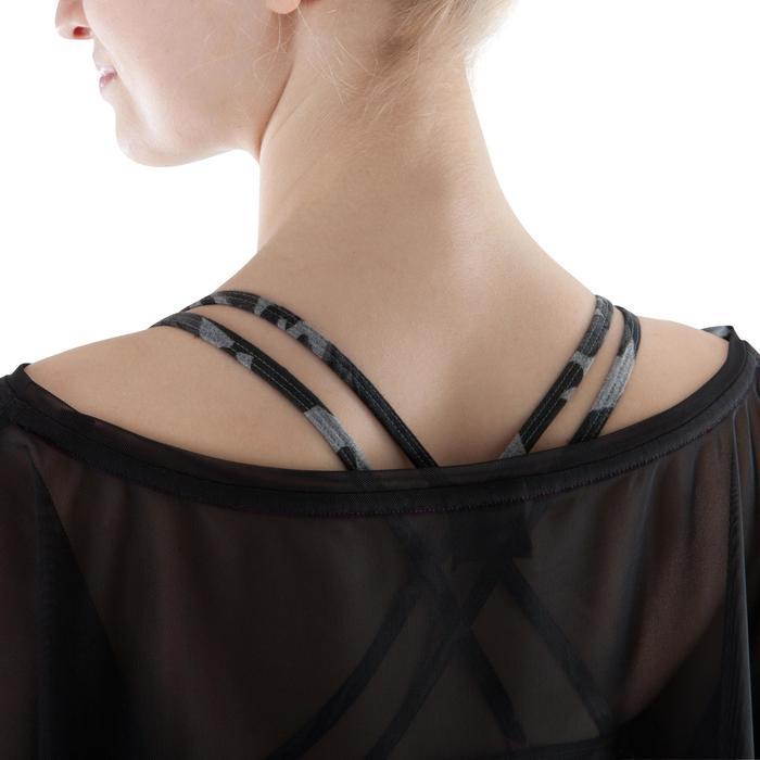 T shirt court transparent danse femme noir. - 1171737
