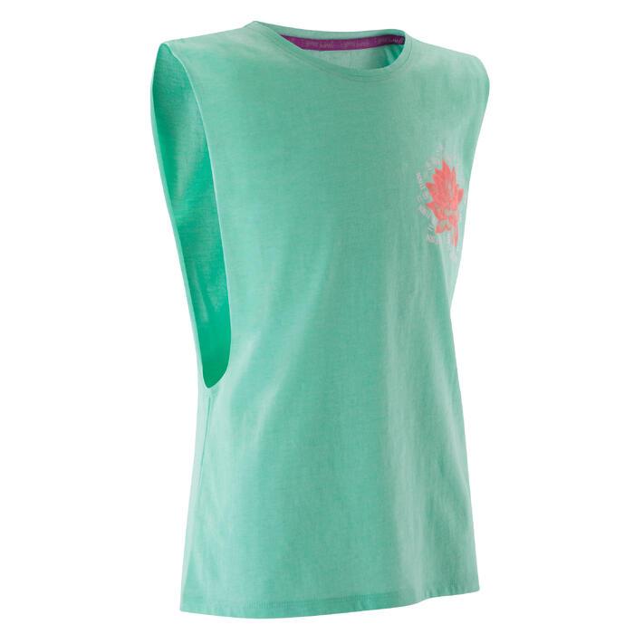 T shirt ouverture côté orange fille - 1171785