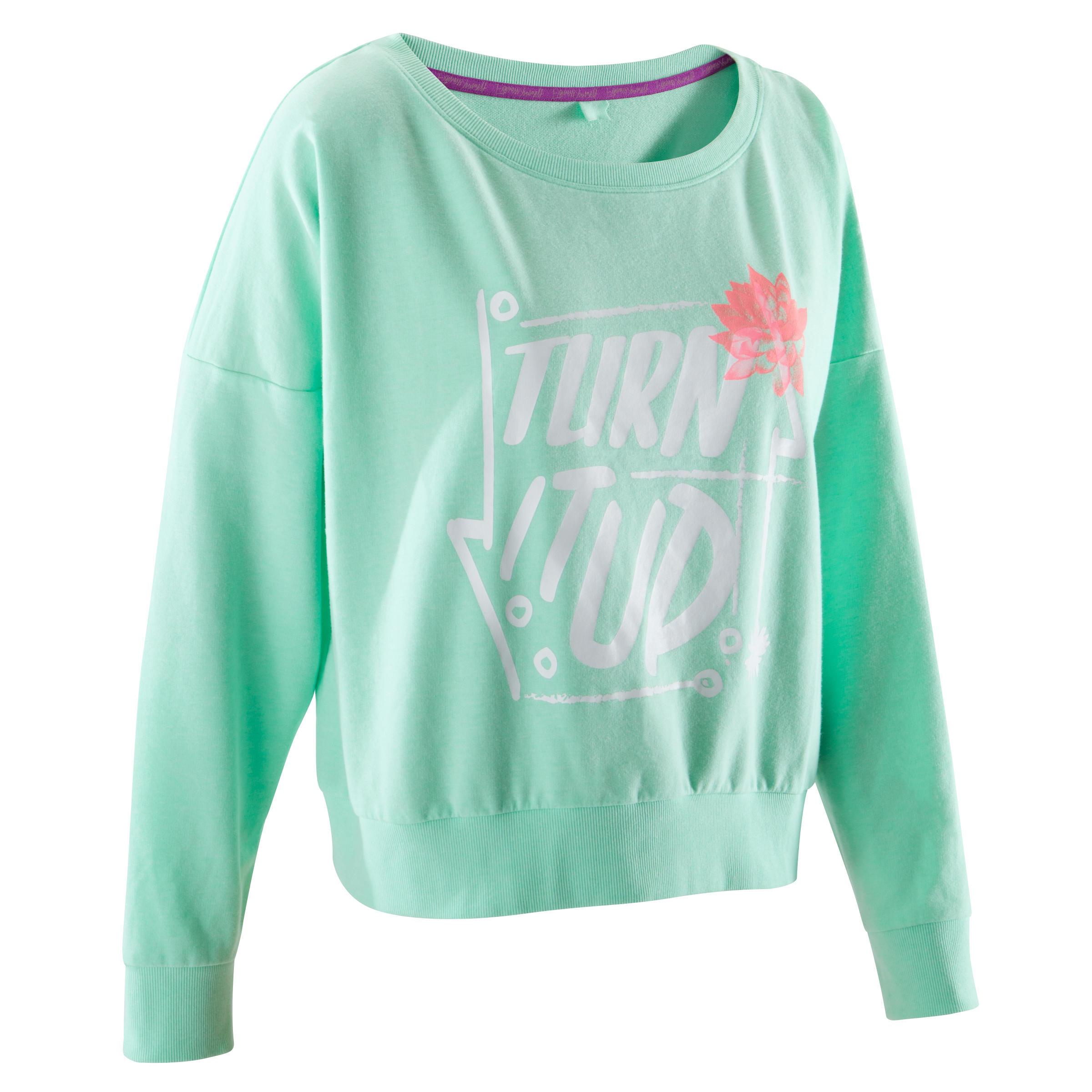 Domyos Danssweater voor dames mintgroen