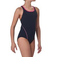 Kamiye girls' one-piece swimsuit - Blue Pink