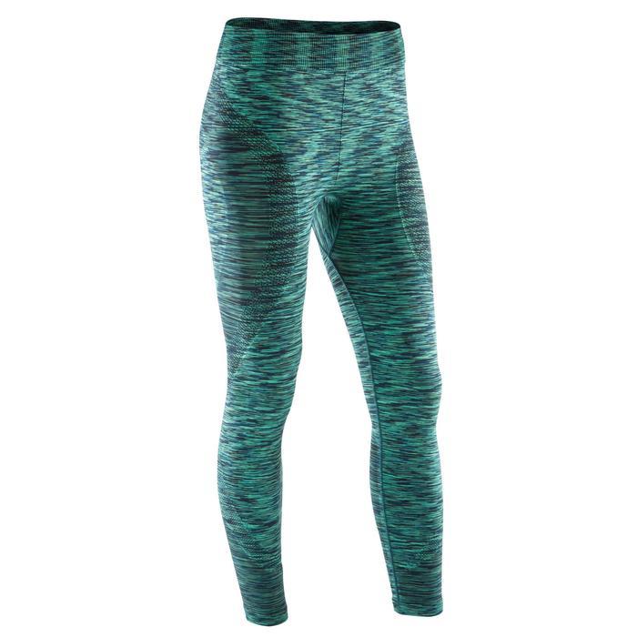 Legging YOGA sans coutures femme 7/8 chiné - 1171825