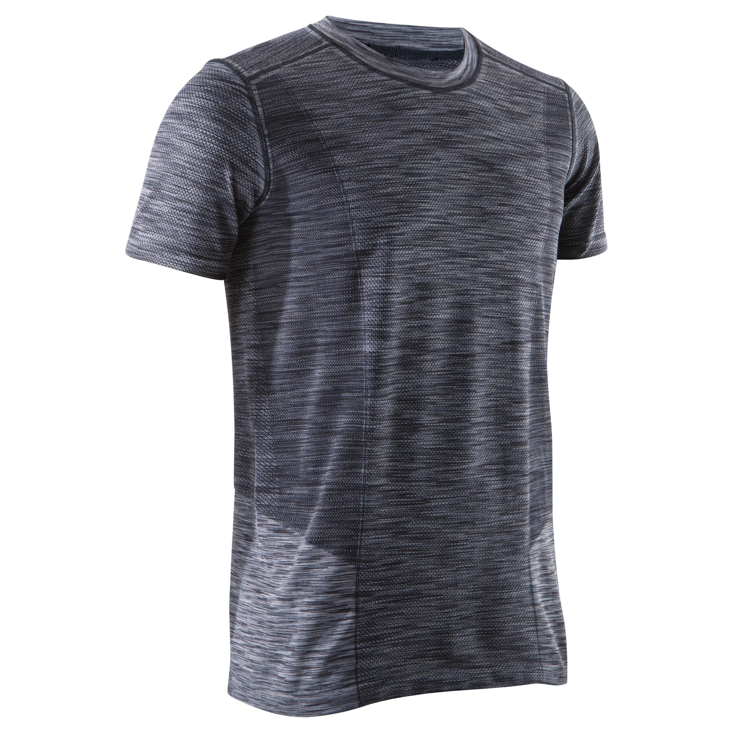 Seamless Yoga T-Shirt - Black/Grey