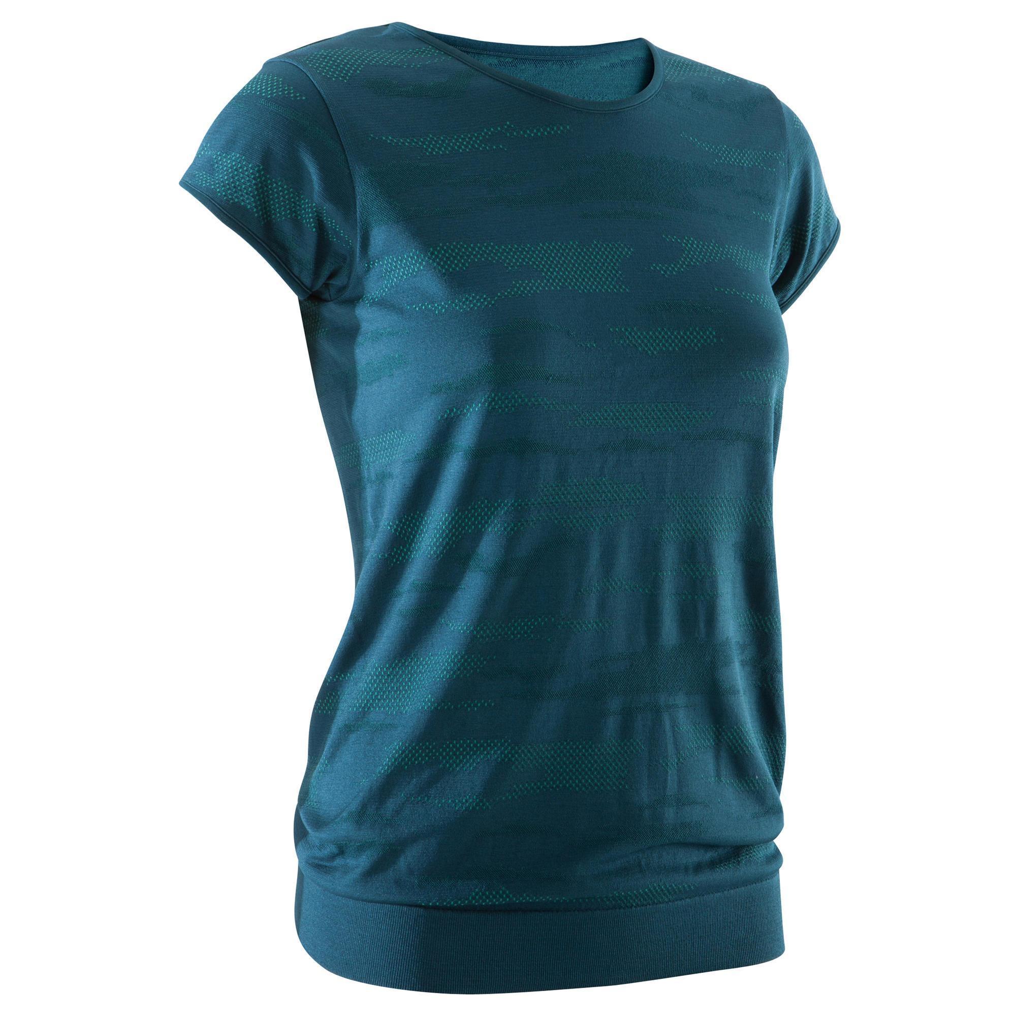 Women's Seamless Yoga T-Shirt - Green