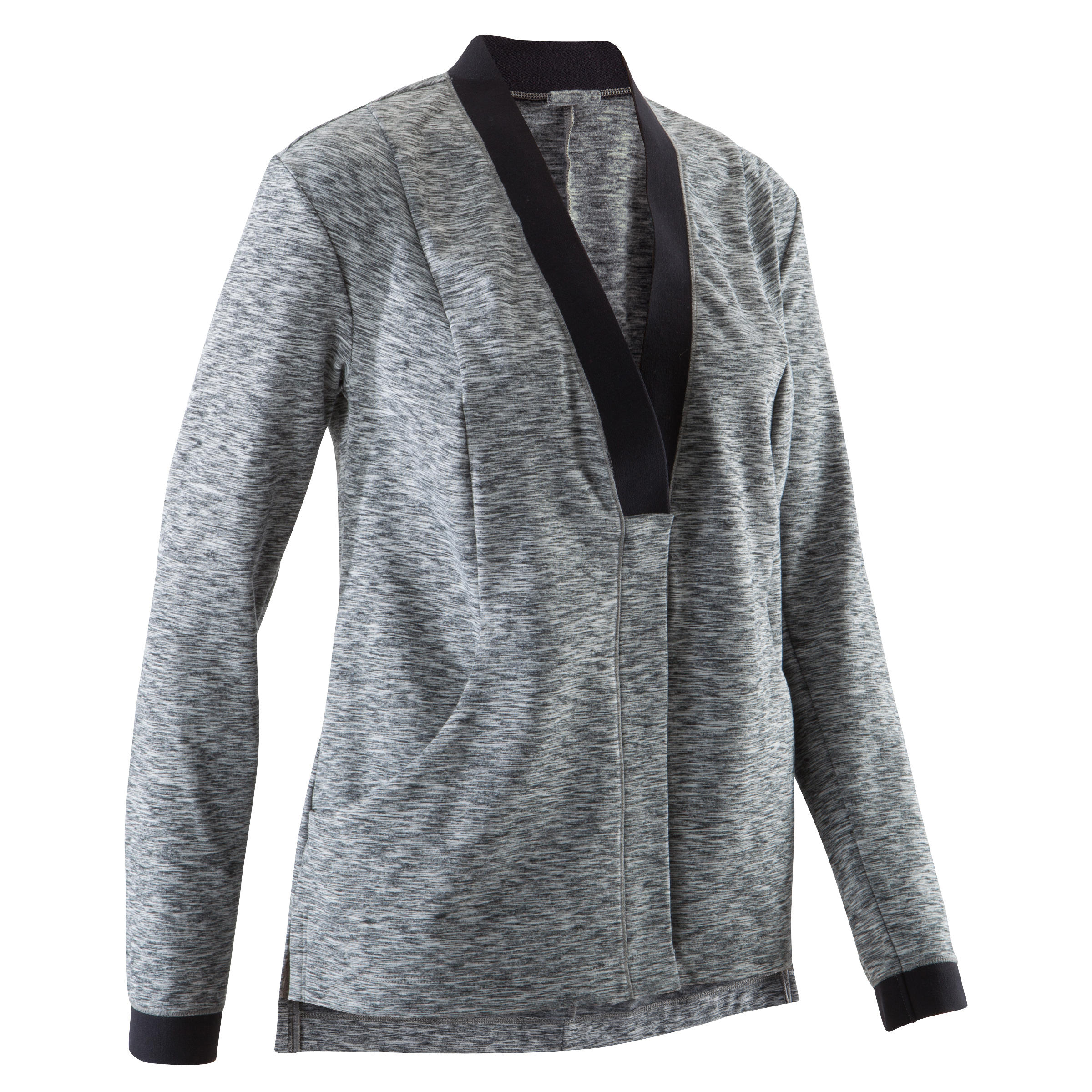 Domyos Vest yoga+ dames zwart/gem�leerd grijs