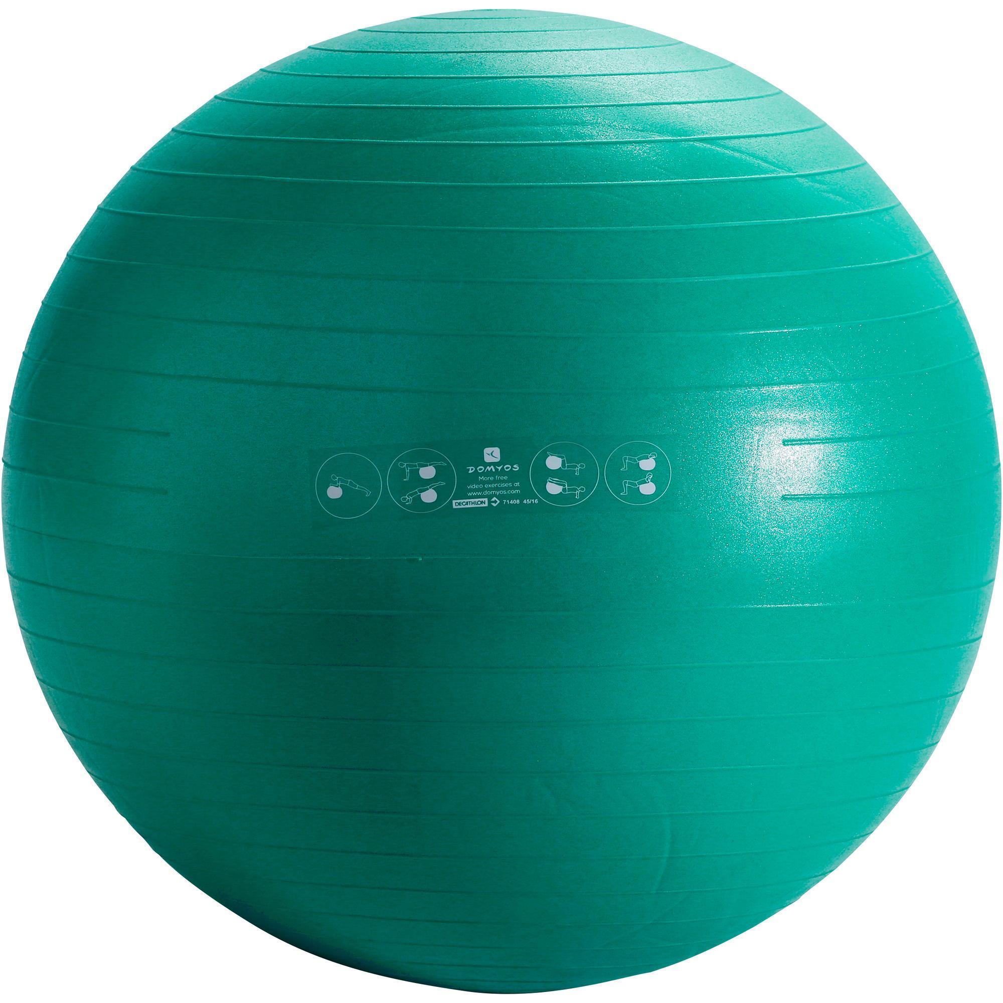 Gym ball anti eclatement small domyos by decathlon - Petit trampoline decathlon ...