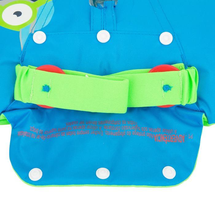 Modulaire zwemhulp Tiswim voor kinderen blauw met zebraprint