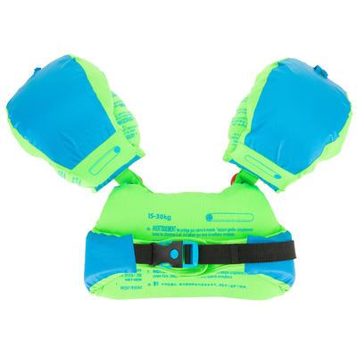 "Flotador brazos-cinturón evolutivo estampado ""ZEBRO"" 15-30 Kg TISWIM azul"