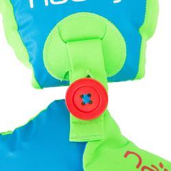 "Manguitos-cinturón evolutivo TISWIM niños azul estampado ""CEBRA"""