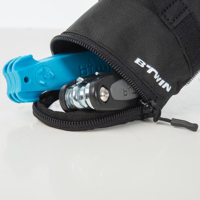 Fahrrad-Reparaturset 100 mit Satteltasche 0,5Liter schwarz