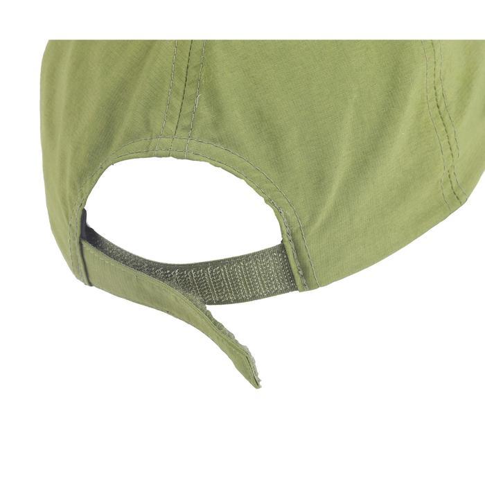 Gorra de senderismo niños Hike 100 verde caqui