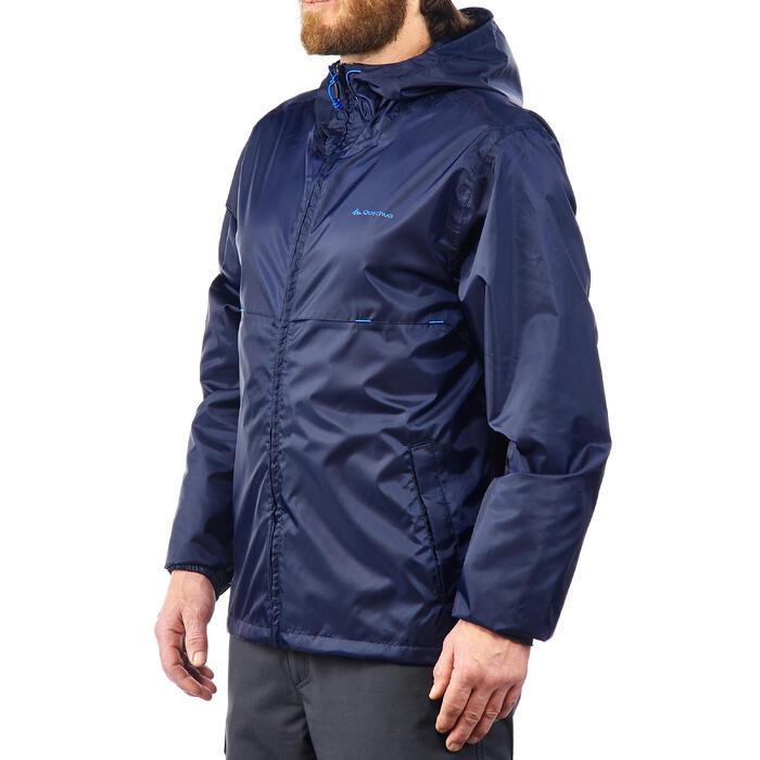 Regenjacke Naturwandern NH100 Raincut Zip Herren navy