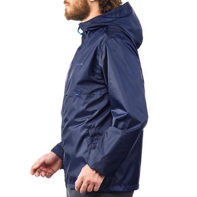 Cortalluvia Impermeable senderismo en la naturaleza hombre Raincut azul marino