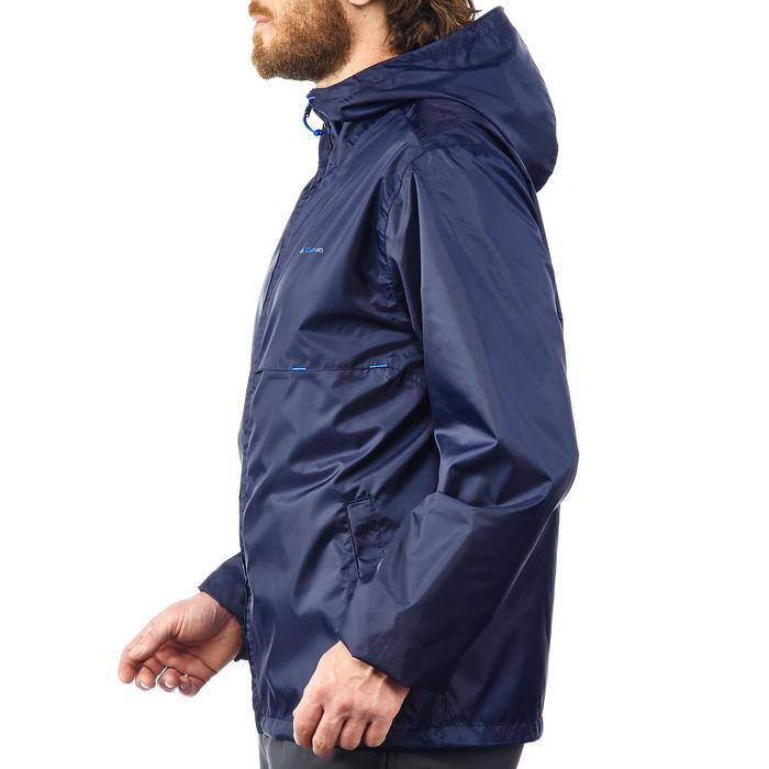Coupe pluie Imperméable randonnée nature homme Raincut zip marine