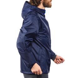 Regenjack voor wandelen in de natuur NH100 Raincut rits marineblauw heren