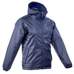 男款鄉村健行防水外套NH100 Raincut-軍藍色