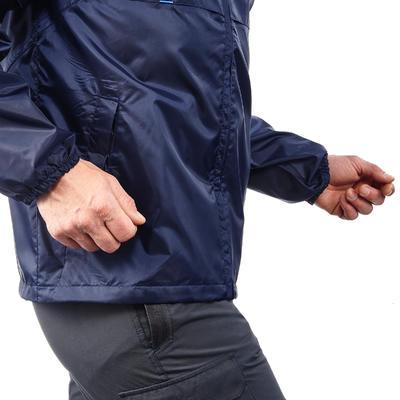 جاكت Raincut رجالي بسوستة للأمطار مقاوم للمياه عند المشي لمسافات طويلة- لون كحلي
