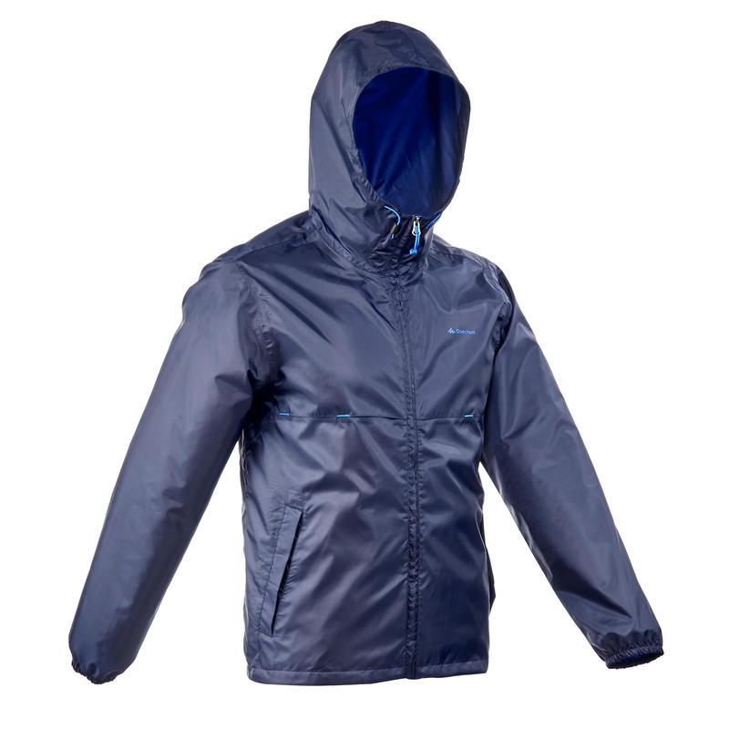 Men's Nature Hiking Rain coat - NH100 Raincut Full Zip