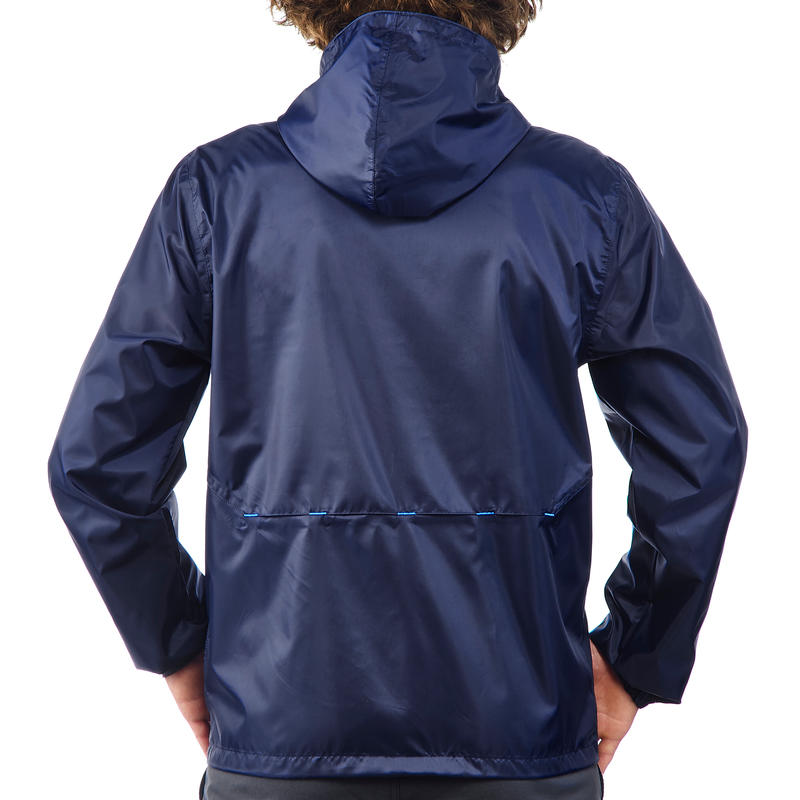 Cortaviento Impermeable senderismo en la naturaleza hombre Raincut azul marino