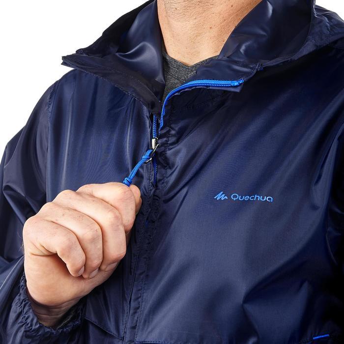 Coupe pluie Imperméable randonnée nature homme Raincut zip marine - 1172166